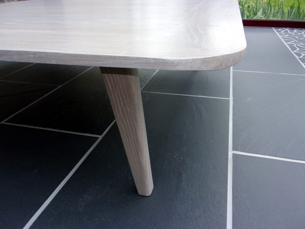 table basse cérusé blanc contemporain