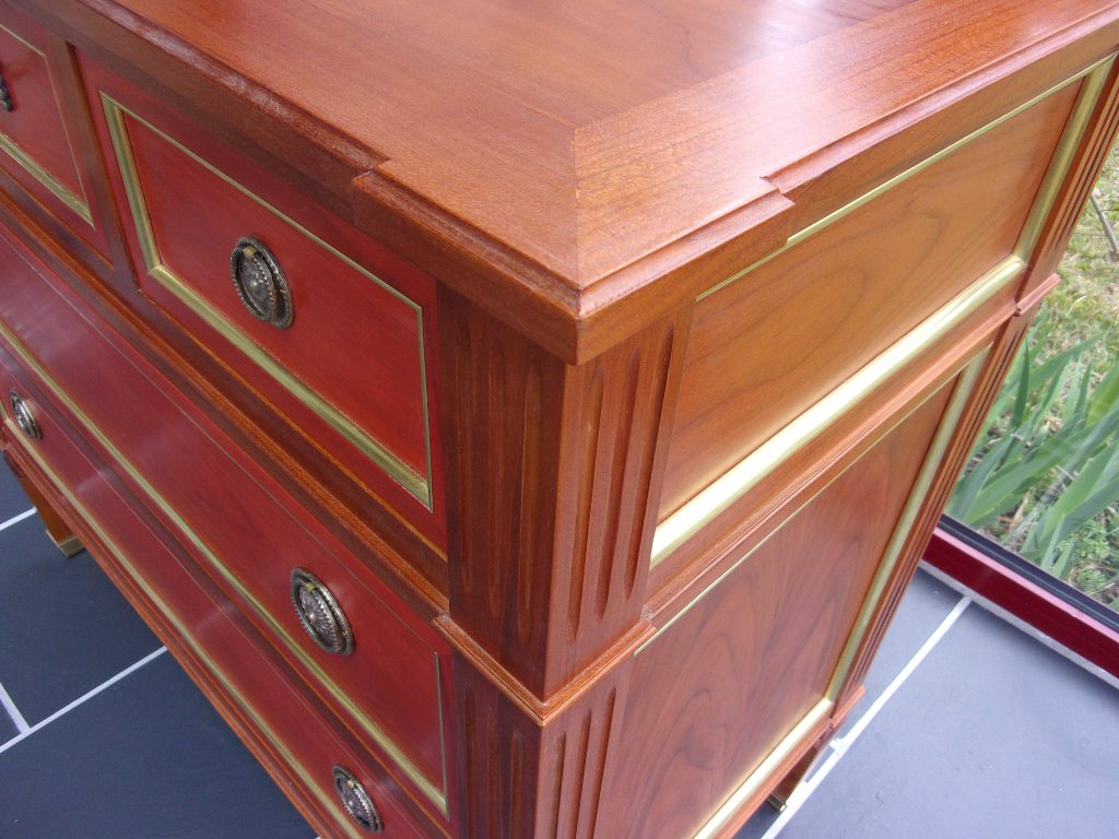 commode louis xvi merisier