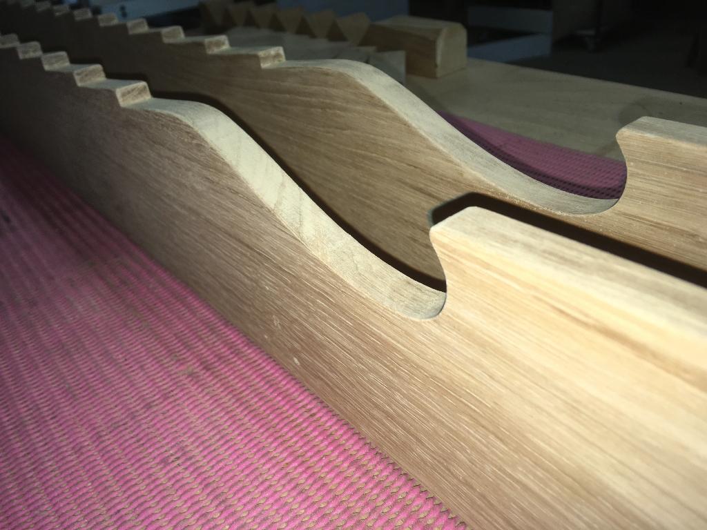 jeu de la meule en bois chêne