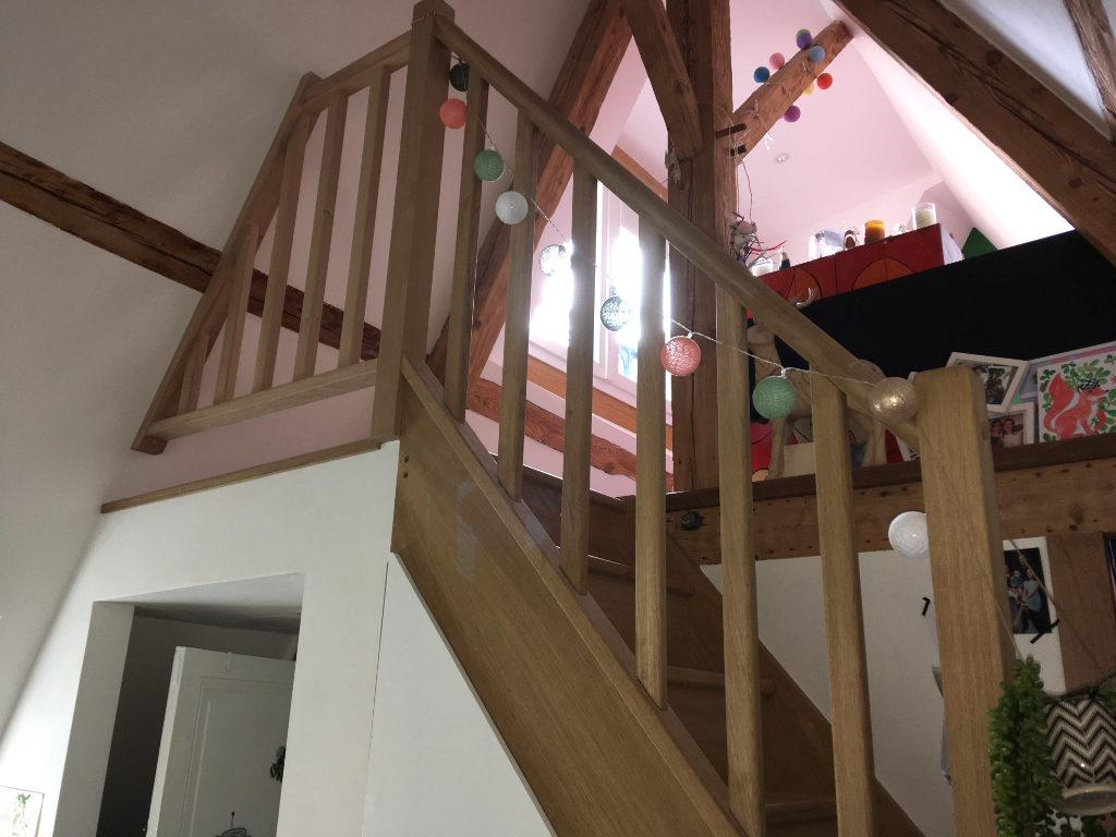 Escalier garde corps chêne sur mesure