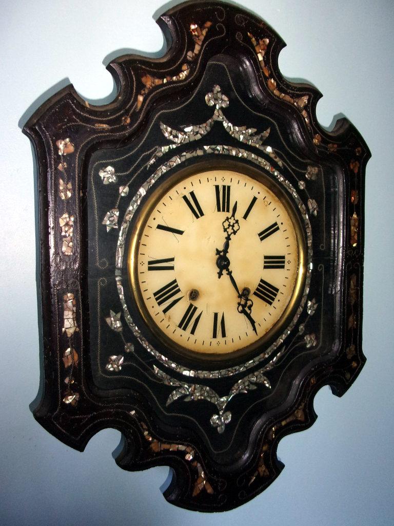 pendule horloge oeil de boeuf Napoléon III