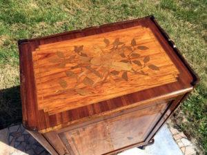 meuble transition marqueterie bois de rose bois de violette palissandre